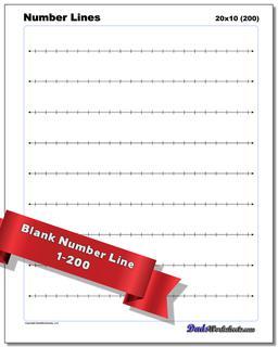 Blank Number Lines Worksheet #Number #Line #Worksheet