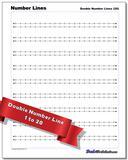 Double Number Lines Worksheet