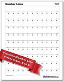 Fraction Worksheet Number Lines