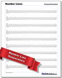 Time, Money and Temperature Number Lines Worksheet