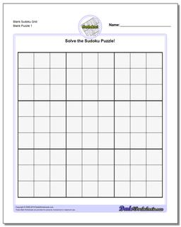 photograph regarding Blank Sudoku Grid Printable named Blank Sudoku