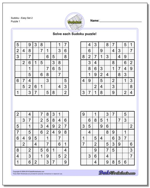 photograph about Printable Sudoku for Kids titled Sudoku - Basic