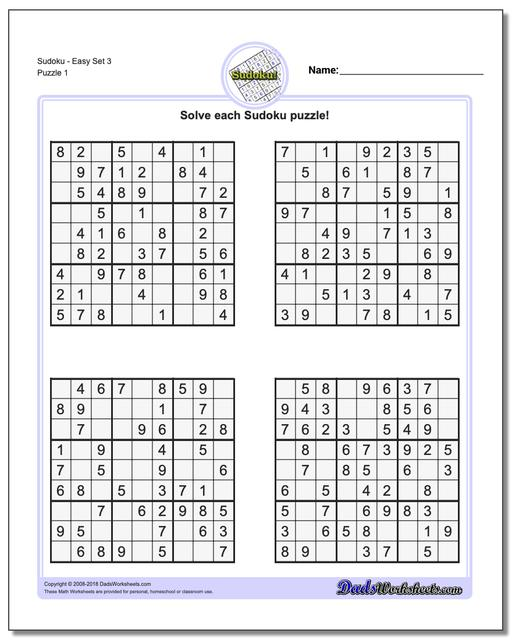 picture regarding Printable Sudoku 6 Per Page named Sudoku - Straightforward