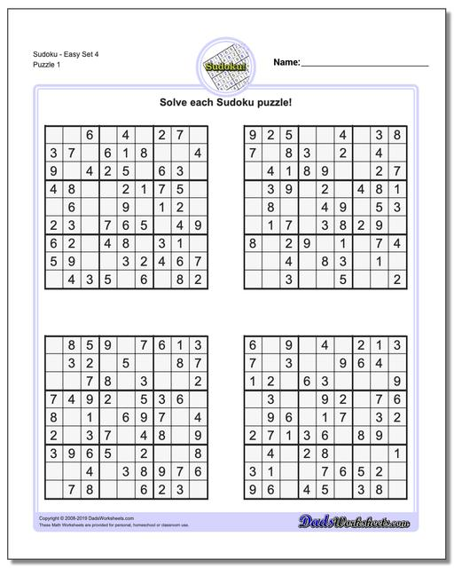 image about Printable Sudoku Puzzles 6 Per Page named Sudoku - Basic
