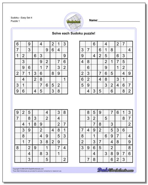 photo relating to Beginner Sudoku Printable known as Sudoku - Uncomplicated