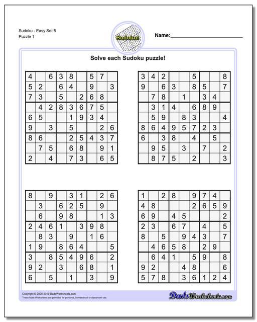 graphic regarding Beginner Sudoku Printable called Sudoku - Very simple