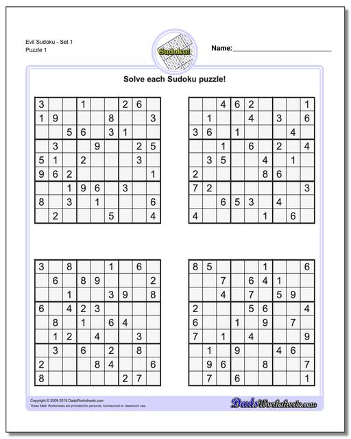 graphic relating to Printable Sudoku Pdf called Sudoku