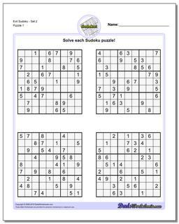 Printable Sudoku Puzzle EvilSet 2