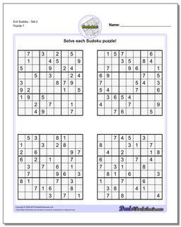 Evil SudokuSet 2 Worksheet