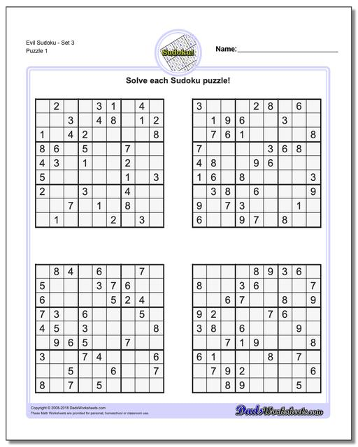 Persnickety image for hard sudoku puzzles printable