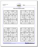 Evil SudokuSet 4 Worksheet