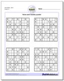 Evil SudokuSet 5 Worksheet