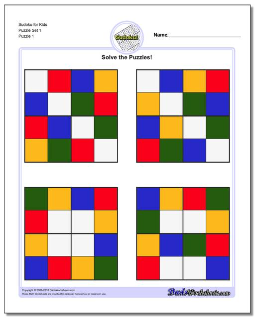 graphic regarding Sudoku for Kids Printable named Sudoku for Young children