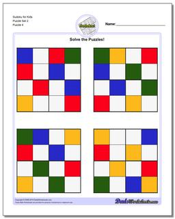 Sudoku for Kids Puzzle Set 2 #Sudoku #Worksheet