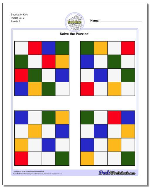 Sudoku for Kids Puzzle Set 2