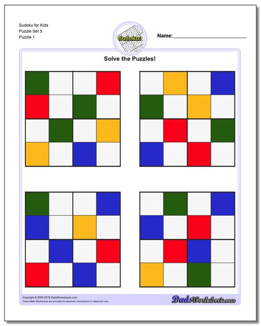 picture about Sudoku for Kids Printable called Sudoku for Small children