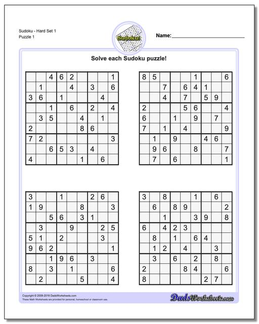 Declarative image in hard sudoku puzzles printable