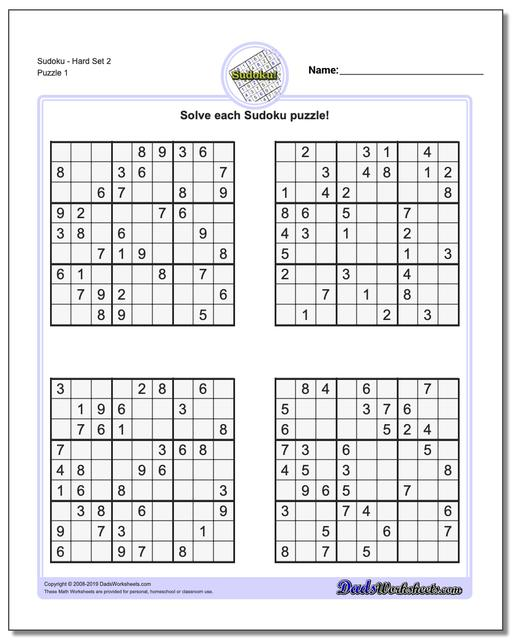 photo relating to Printable Sudoku 6 Per Page identify Sudoku - Challenging