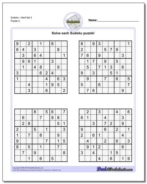 photo regarding Sudoku Puzzles Printable Pdf called Sudoku - Difficult