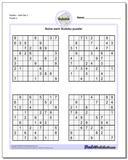 SudokuHard Set 3 www.dadsworksheets.com/puzzles/sudoku.html Worksheet