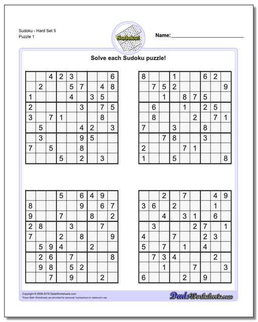 graphic relating to Sudoku Printable Hard known as Sudoku - Tough