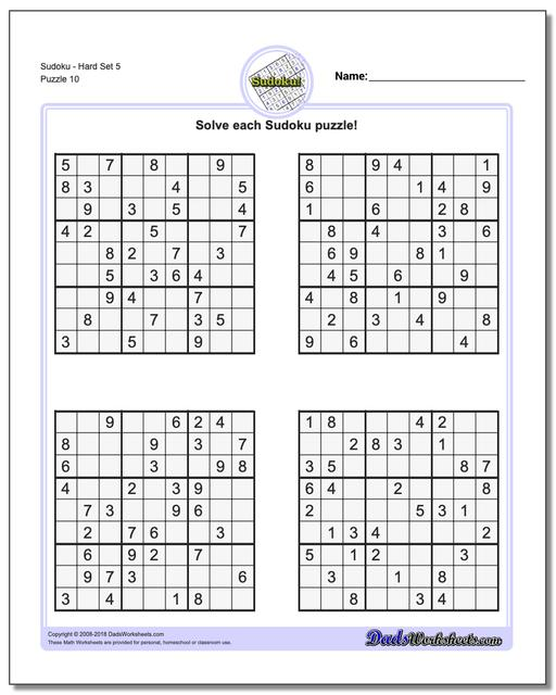 It's just an image of Invaluable Sudoku Hard Printable