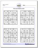 SudokuHard Set 5 www.dadsworksheets.com/puzzles/sudoku.html Worksheet