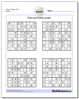 picture about Printable Sudoku Medium named Sudoku - Medium