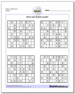 graphic about Sudoku Printable Pdf identified as Sudoku - Medium