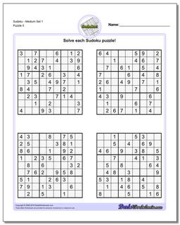 photograph regarding Medium Sudoku Printable named Sudoku - Medium