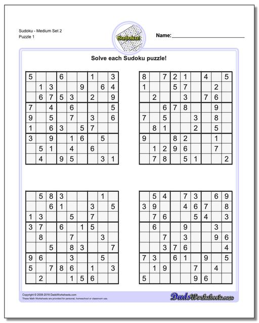 Decisive image regarding sudoku printable medium