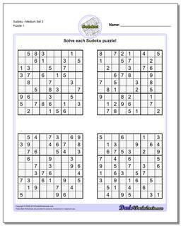 picture regarding Sudoku Medium Printable identified as Sudoku - Medium