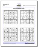 SudokuMedium Set 3 Worksheet