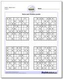 SudokuMedium Set 4 www.dadsworksheets.com/puzzles/sudoku.html Worksheet