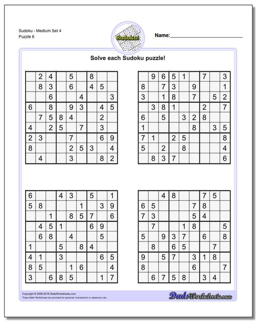 Current image throughout sudoku printable medium