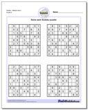 SudokuMedium Set 4 Worksheet