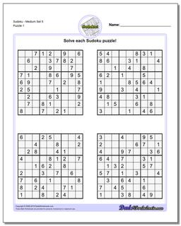 Old Fashioned image throughout printable sudoku puzzles medium