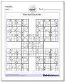 Samurai Sudoku Five Puzzle Set 3