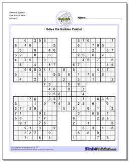 photograph regarding Printable Sudoku Samurai identified as Samurai Sudoku 5