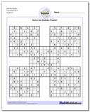 Samurai Sudoku Five Puzzle Set 4
