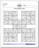 Samurai Sudoku Five Puzzle Set 4