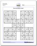 Samurai Sudoku Five Puzzle Set 5