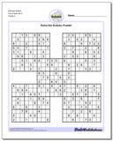 Samurai Sudoku Five Puzzle Set 5
