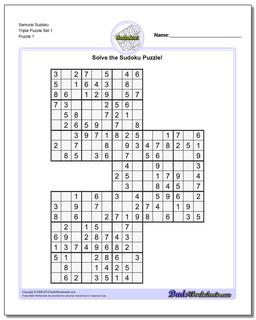picture regarding Printable Sudoku Samurai identified as Sudoku