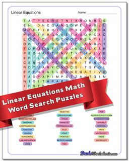 Advanced Math Word Search Puzzle #Word #Search #Puzzle