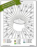 St. Patrick's Day Addition Color by Number Worksheet
