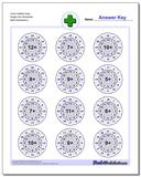 Circle Addition Easy Single Fact Worksheet