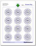 Circle Addition Hard Single Fact Worksheet www.dadsworksheets.com/worksheets/addition.html