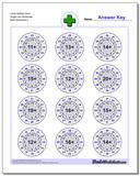 Circle Addition Hard Single Fact Worksheet