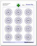 Circle Addition Easy Random Single Fact Worksheet